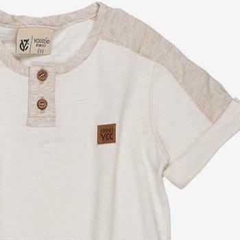 Camisa Infantil Masculina Malha Flame Bege