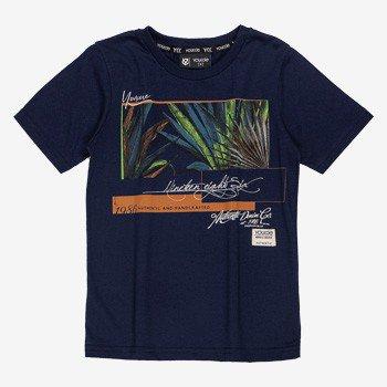 Camiseta Infantil Masculino Folhagem Azul Marinho Youccie