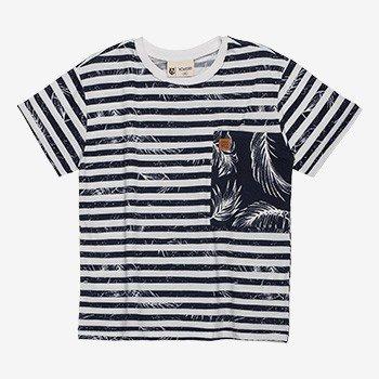 Camiseta Infantil Masculina Listrada com Bolso Marinho youccie