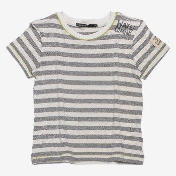 Camiseta Infantil Masculina Listrada Cinza Waves youccie