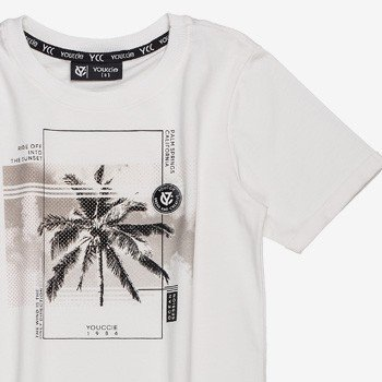 Camiseta Infantil Masculino Coqueiro Branco youccie
