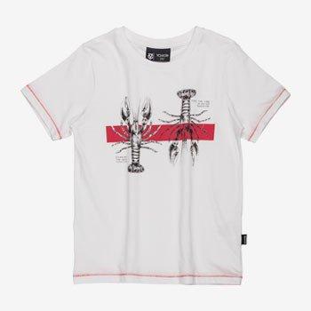 Camiseta Infantil Branca Estampa Lagosta youccie detalhe
