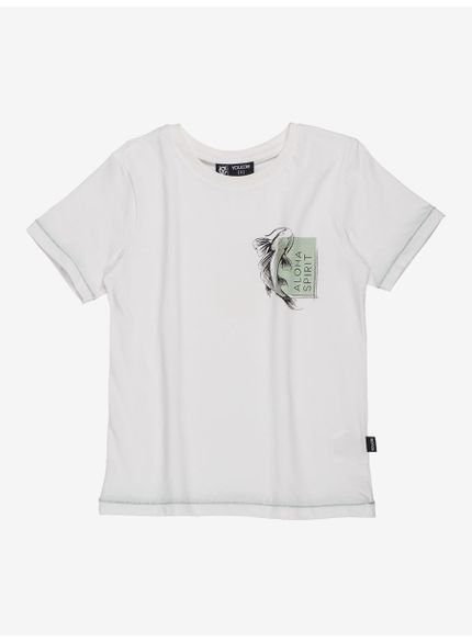 camiseta branca infantil aloha youccie d0187