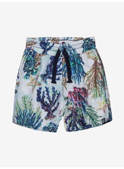 shorts infantil estampa fundo do mar youccie