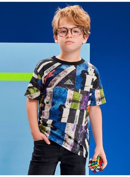 blusa infantil menino estampa colorida youccie