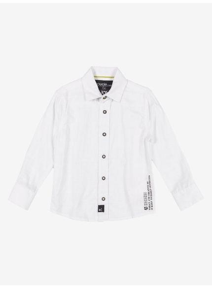camisa social branca infantil verano flame
