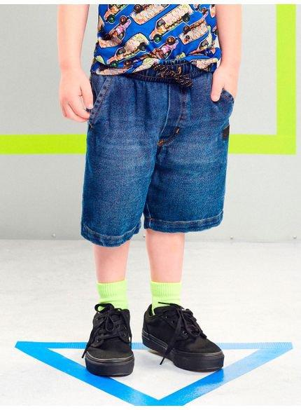 bermuda jeans infantil com regulagem youccie