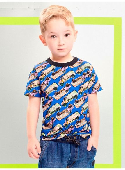 blusa infantil menino estampa furgao youccie
