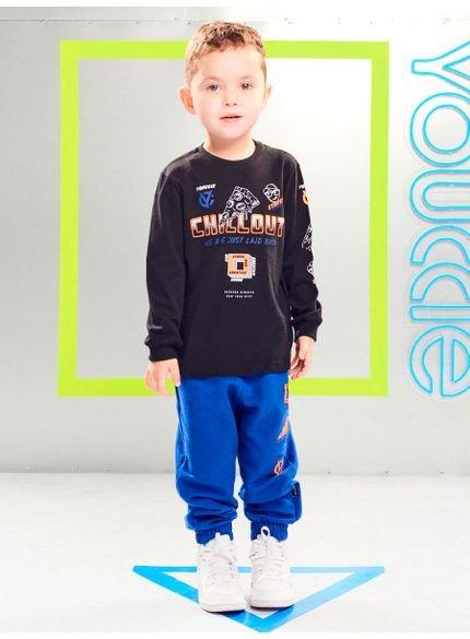 conjunto infantil menino de moletom youccie look