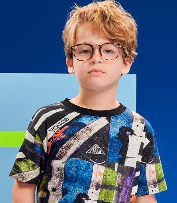 detalhe blusa Infantil Menino Estampa Colorida Youccie