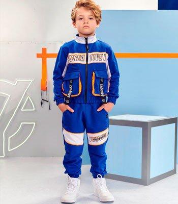 detalhe Jaqueta Infantil Menino Azul com Bolsos Youccie