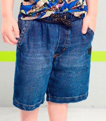 detalhe Bermuda Jeans Infantil com Regulagem Youccie