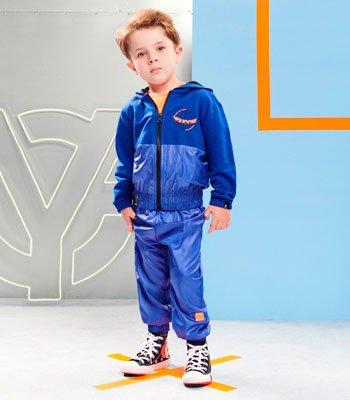 detalhe Agasalho Infantil Menino Azul Youccie