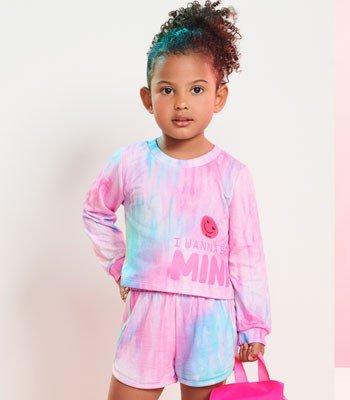 Conjunto Infantil Feminino Moletinho Tie Dye Momi J3600