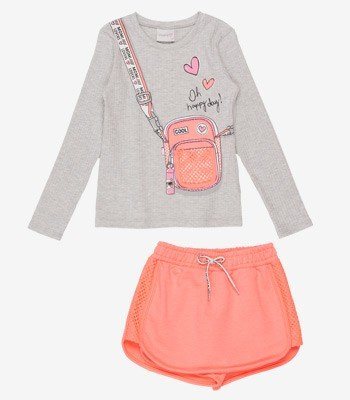 Conjunto Infantil Menina Mini Bag em Telinha Momi H2868