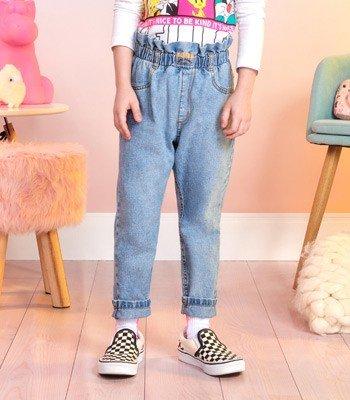 Calca Jeans Infantil Feminina Clochard Momi F9358