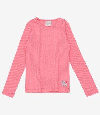 Blusa Infantil Malha Canelada Rosa Momi F9429