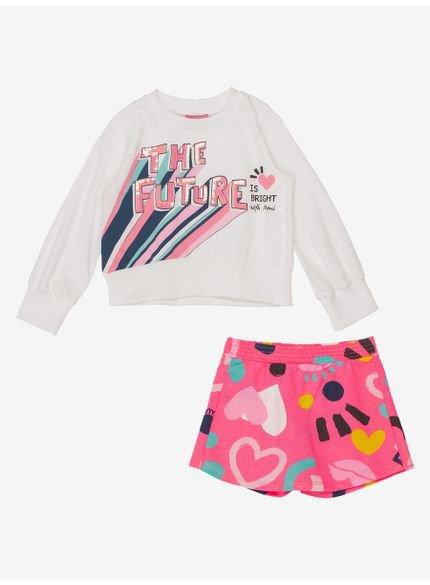 conjunto infantil menina de moletom the future momi look