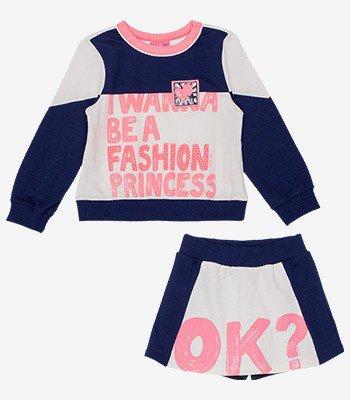 Conjunto Infantil Menina Princess Momi detalhe