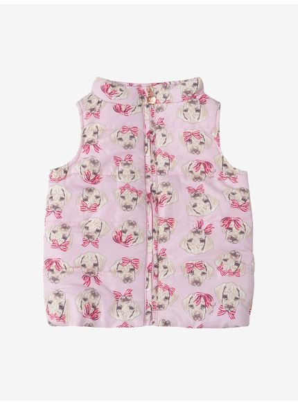 colete infantil feminino dog rosa momi