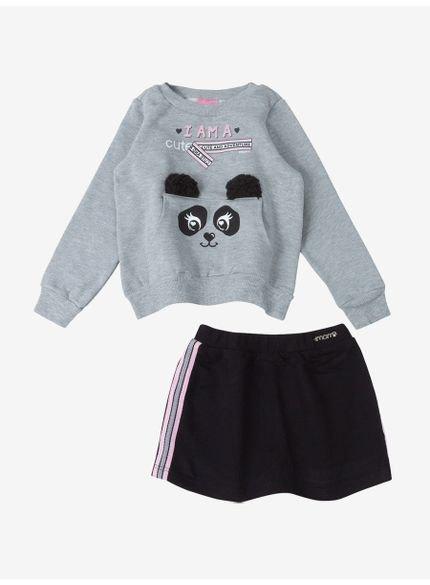 conjunto infantil feminino panda momi
