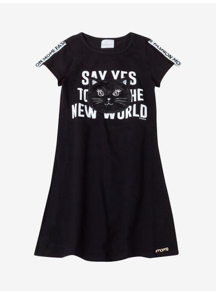 vestido infantil feminino preto momi