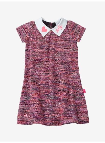 vestido infantil em tweed momi