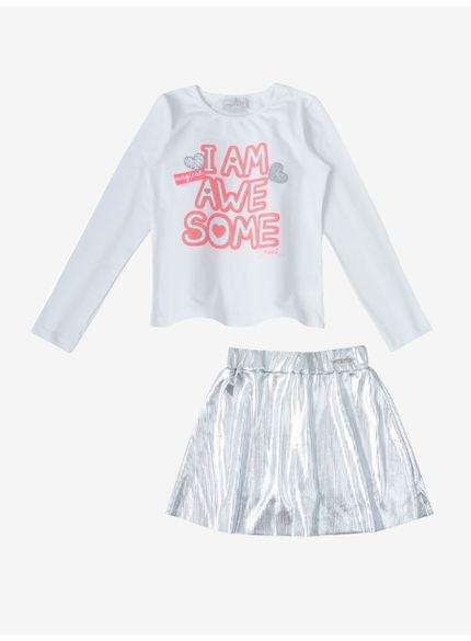 conjunto infantil feminino estampa neon momi look