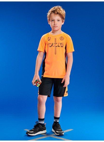 conjunto infantil sport laranja neon masculino