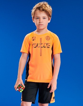 Conjunto Infantil Sport Laranja Neon Masculino detalhe