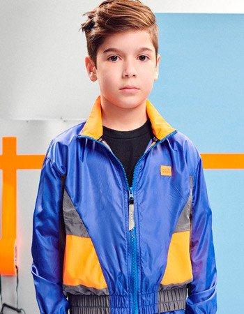 detalhe jaqueta Corta Vento Sport Infantil Masculino Youccie