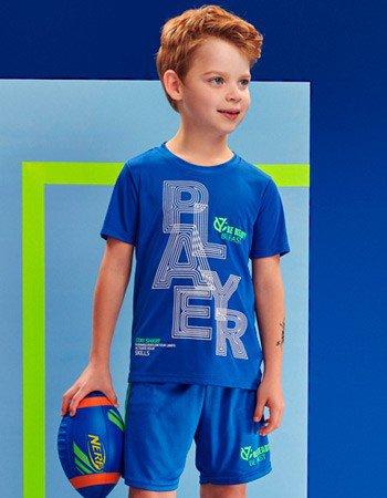 Conjunto Sport Azul Infantil Masculino Youccie D0213