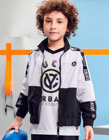 Camiseta Raglan Sport Infantil Branca Youccie D0431 detalhe