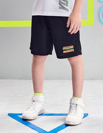 Bermuda Sport Preta Infantil Masculina Youccie D0425 detalhe