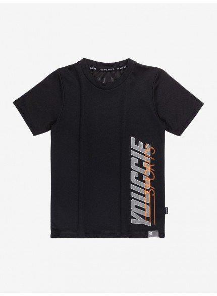 camiseta infantil sport basica preta youccie