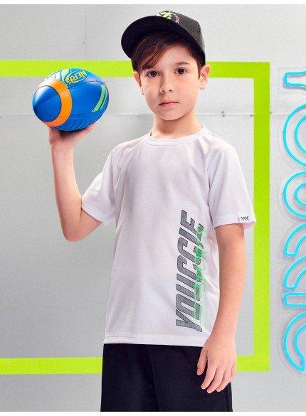 camiseta infantil sport basica branca youccie