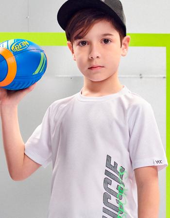Camiseta Infantil Sport Basica Branca Youccie D0428