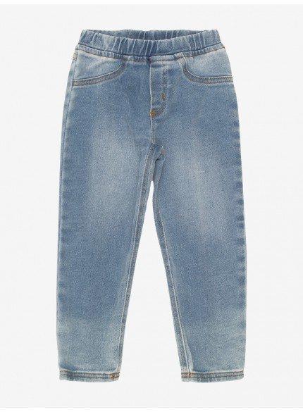 calca jeans infantil feminina cos elastico momi