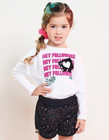 Conjunto Infantil Menina Shorts de Paete Momi J3725