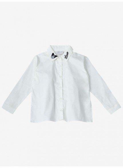 camisa infantil menina dog momi frente