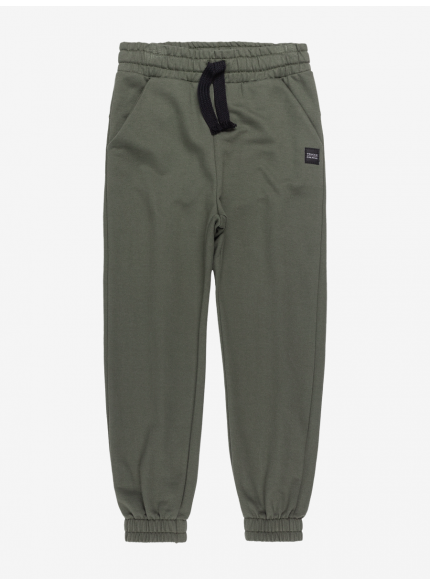calca de moletom jogger infantil menino verde militar