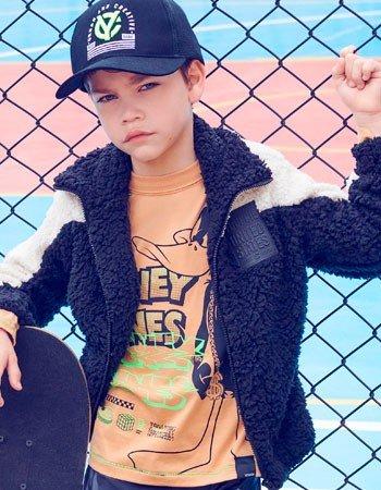 Jaqueta de Pelo Preta Infantil Masculino Youccie D0257