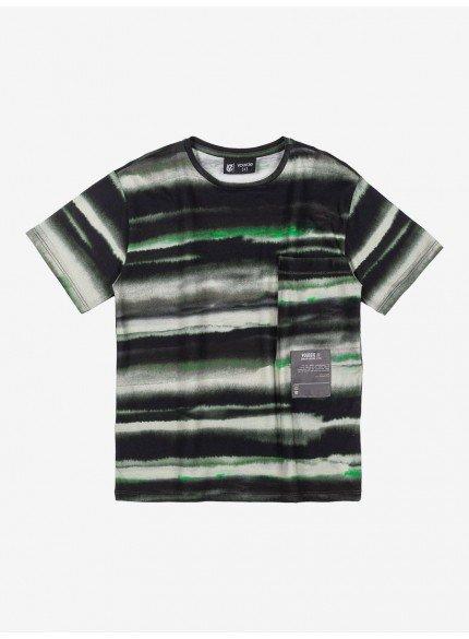 camiseta infantil masculina listrada verde militar