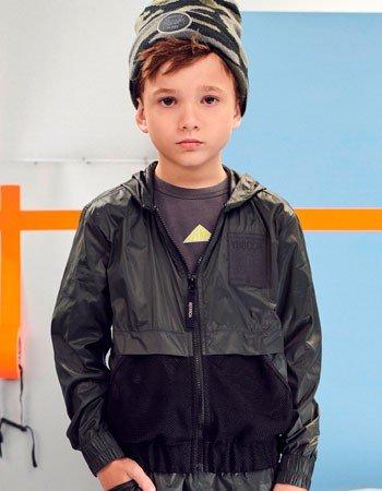 Jaqueta Corta Vento Preta Infantil Masculino Youccie D0350