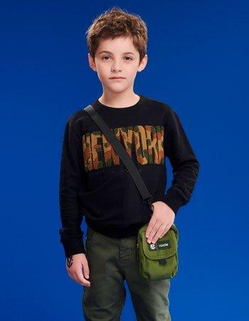 Casaco de Moletom New York Preto Infantil Masculino D0362