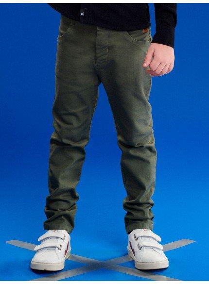 calca de sarja infantil masculina verde militar youccie