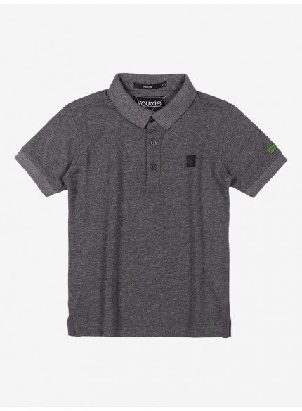 camisa polo mescla infantil menino youccie