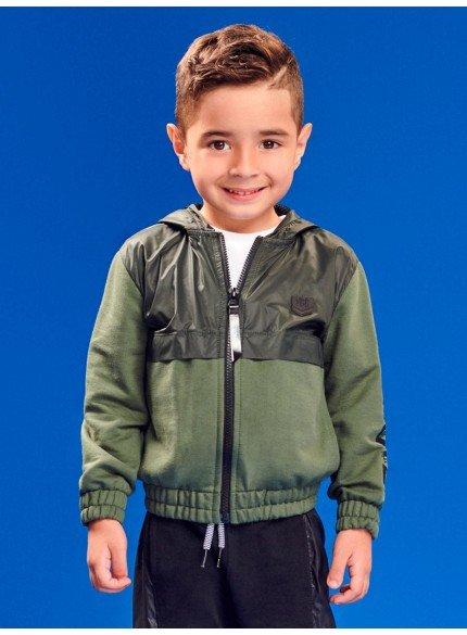 jaqueta corta vento com moletom infantil menino
