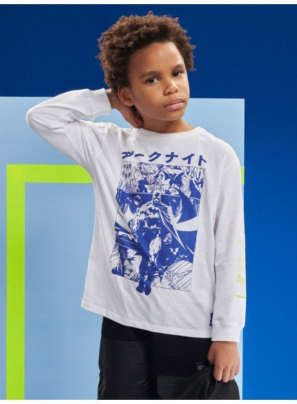 camiseta infantil batman de manga longa youccie