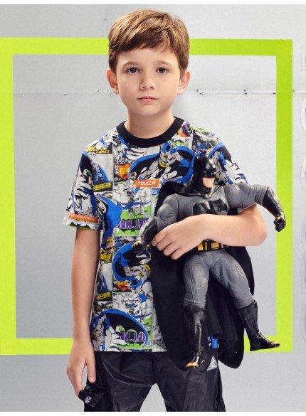 camiseta infantil batman manga curta youccie